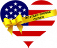 military spouse logo on heart