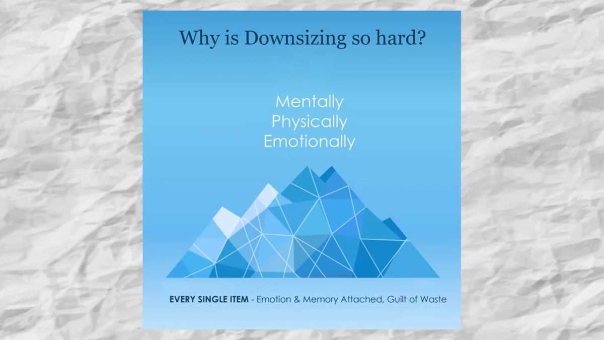 why is downsizing so hard illustration